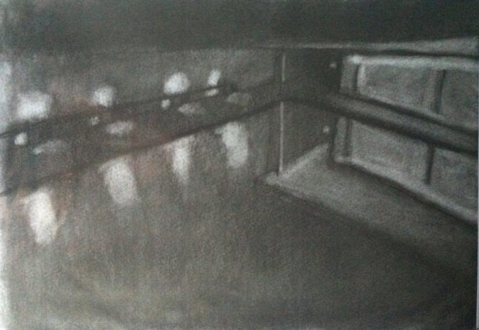 Light study in charcoal